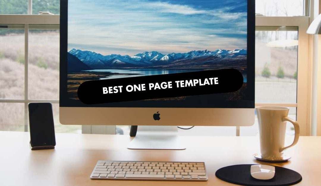 BEST ONE PAGE TEMPLATE