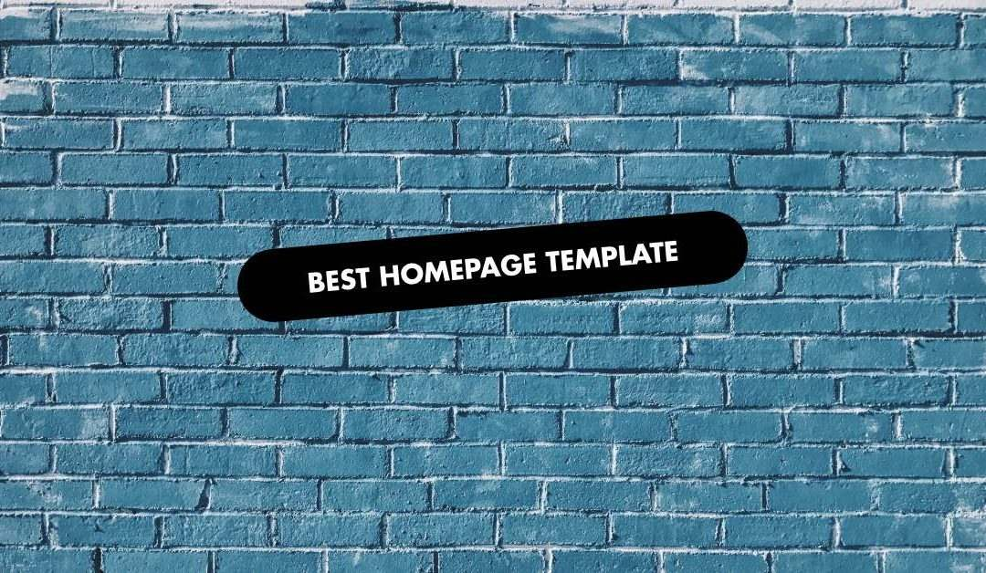 Homepage Template