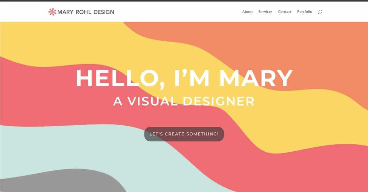 Mary Rohl Web Design Resume Example